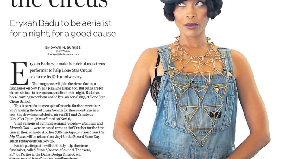 Dallas Morning News, GuideLive, Erykah Badu